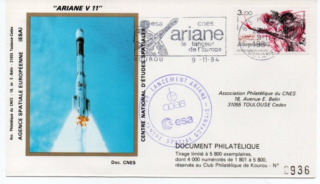 img20191127 15081236 - Kourou (Guyane) Lancement Ariane 3 – Vol 11 - 09 Novembre 1984 (Pochette CNES Complète)