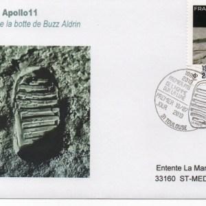 img20191129 19145790 - Premier jour timbre 50 ans du premier pas de l'homme sur la lune - Toulouse cité de l'Espace 19 Juillet 2019 - (Enveloppe premier jour)