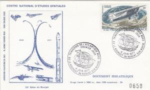 """Divers 1er jour Atlantique Nord - Premier jour du timbre """"Traversée de l'Atlantique Nord"""" - 33ème Salon du Bourget - 04 Juin 1977 - C1"""