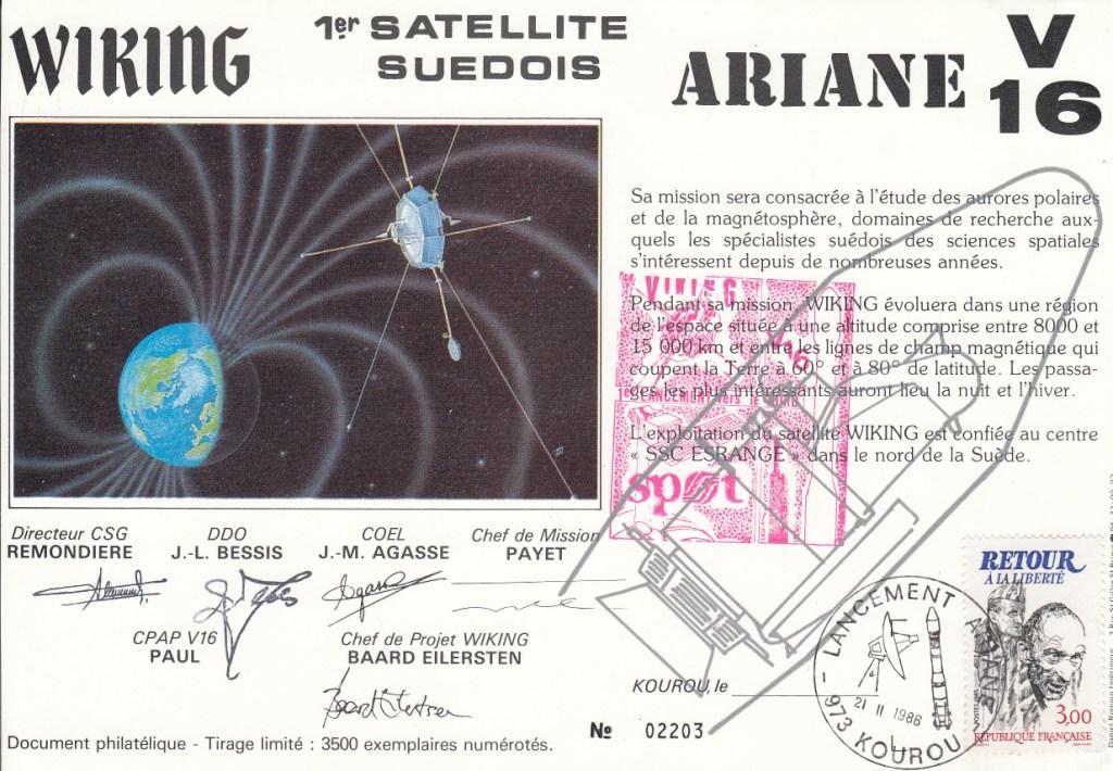 V16 Ariane1 Viking - Kourou - Lancement Ariane 1 Vol 16 - Encart 21 Février 1986