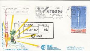 V5 Ariane1 1 - Kourou - Lancement Ariane 1 - L5 - 09 Septembre 1982 - C1