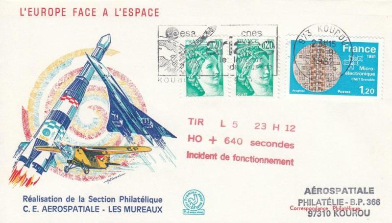 V5 Ariane1 - Kourou – Lancement Ariane 1 – L5 – 09 Septembre 1982