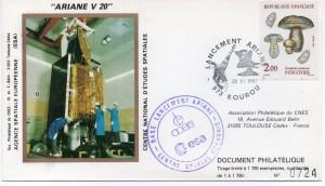 img20191207 16542921 300x172 - Kourou (Guyane) Lancement Ariane 2 – Vol 20 - 20 Novembre 1987 (Pochette CNES Complète)