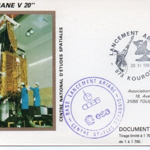 img20191207 16542921 - Kourou (Guyane) Lancement Ariane 2 – Vol 20 - 20 Novembre 1987 (Pochette CNES Complète)