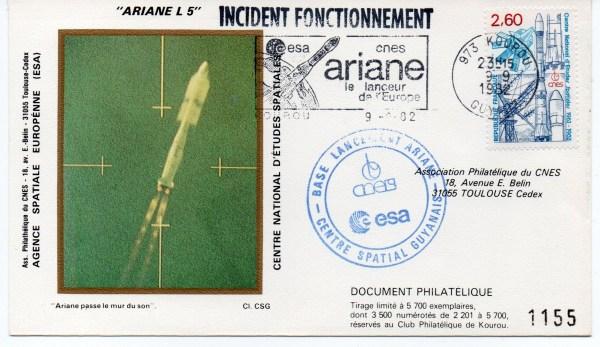 img20191219 16440018 - Kourou (Guyane) Lancement Ariane 1 – L 05 - 09 Septembre 1982 (3 Enveloppes  CNES )