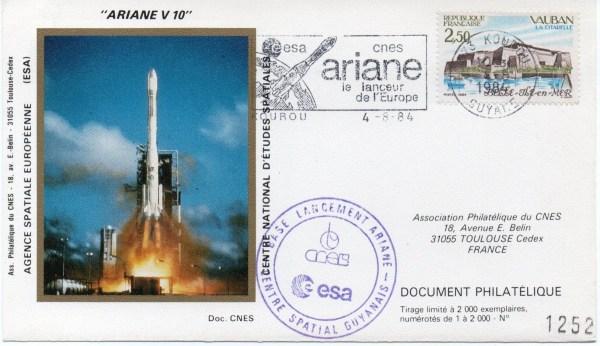img20191219 16463730 - Kourou (Guyane) Lancement Ariane 3 – Vol 10 - 04 Aout 1984 (4 Enveloppes  CNES )