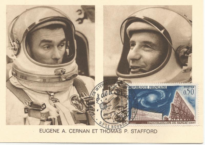 Numérisation 20191222 18 - 27ème Salon du Bourget 26 Mai 1967 - Carte Postale équipage Gémini 9