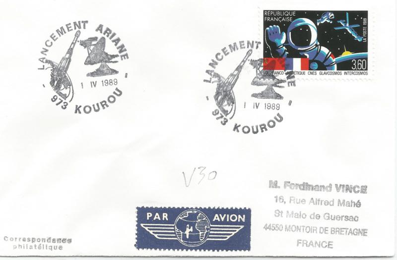 Numérisation 20191222 64 - Kourou (Guyane) Lancement Ariane 2 – Vol 30 - 01 Avril 1989 - C3