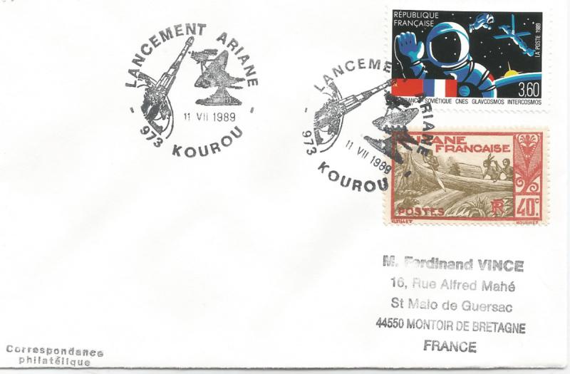 Numérisation 20191222 65 - Kourou (Guyane) Lancement Ariane 3 – Vol 32 - 11 Juillet 1989