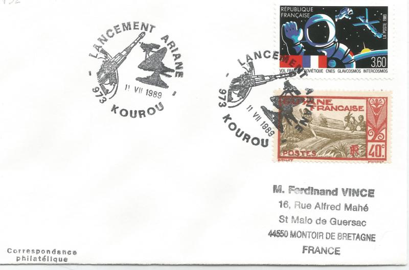 Numérisation 20191222 66 - Kourou (Guyane) Lancement Ariane 3 – Vol 32 - 11 Juillet 1989 - C3