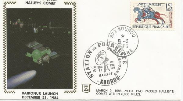 Numérisation 20191222 73 - Station Poursuite radar de Galliot Kourou - Suivi sonde vega 2 le 09 Mars 1986