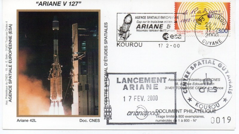 img20200426 18164078 - Kourou (Guyane) Lancement Ariane 4 - 44LP – Vol 127 - 17 Février 2000 (Enveloppes Club Phila du CNES) - C7