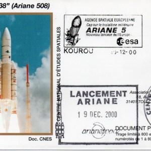 img20200427 18183594 - Kourou (Guyane) Lancement Ariane 5 G – Vol 138 - 19 Décembre 2000 (Enveloppes Club Phila du CNES)