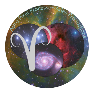 Astro Pixel Processor logo designed by Stefanie Haverkamp