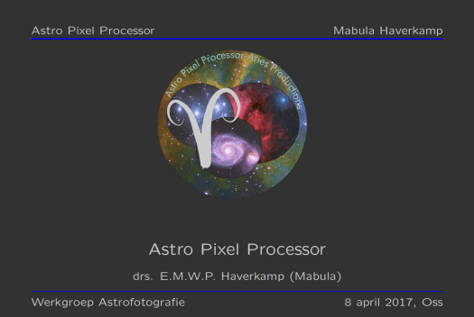 Astro Pixel Processor introductory presentatiion
