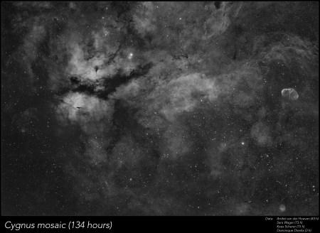 Cygnus 134hour 8-panel Mosaic - André van der Hoeven, Sara Wager, Kees Scherer, Dominique Dierick
