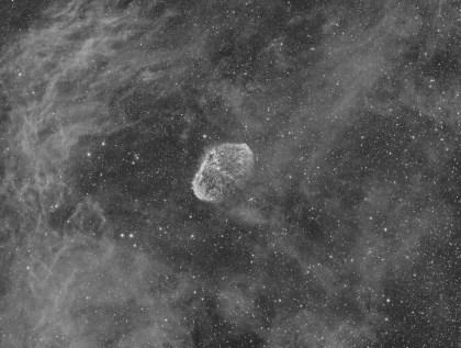 Dominique Dierick - Crescent Nebula and Soap Bubble Nebula in Cygnus