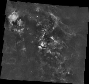 50 Panel Cygnus Mosaic of Hydrogen-Alpha data by Kees Scherer