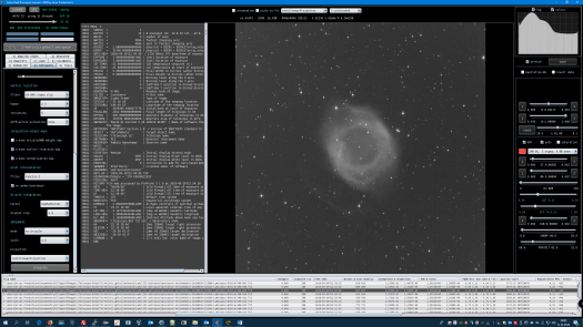 Astro Pixel Processor 1.068 showing a luminance light frame of the Helix Nebula.