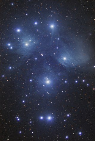 The Pleiades, M45 by Vincent Groenewold
