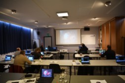 Workshop is almost starting... everyone has documentation, data and their laptop...