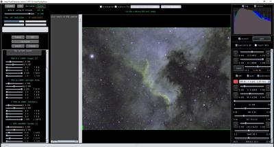NGC 7000 Hubble pallet settings