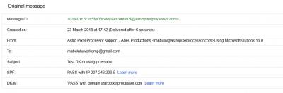 EmailUpgrade SPF DKIM pass