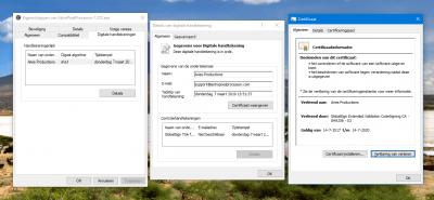 GlobalSign security Certificate