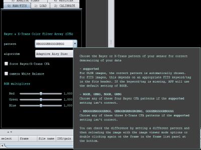 Color Filter Array Patterns including XTrans patterns