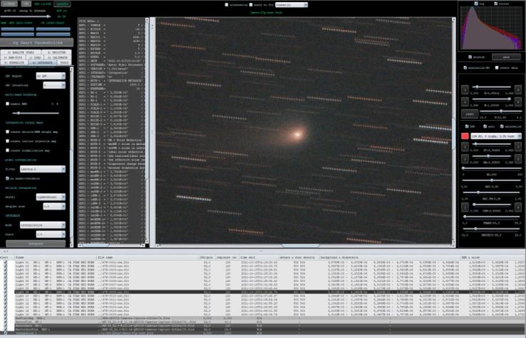 Comet detected properly in all frames