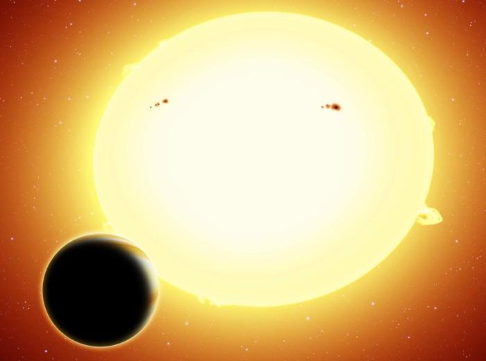 Imagem artística da super-terra HIP 116454 b. (Crédito: Harvard-Smithsonian CfA)