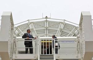 Inauguração da Estação RAEGE em Santa Maria, Açores (Crédito: CaGS)