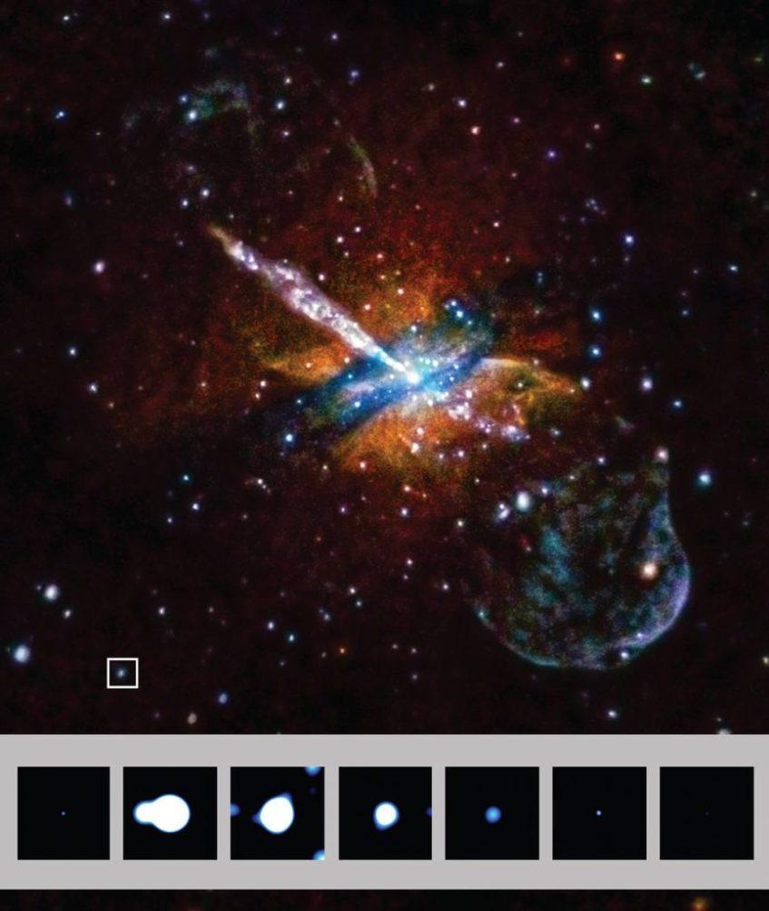 Crédito: NASA / CXC / UA / J. Irwin et al.