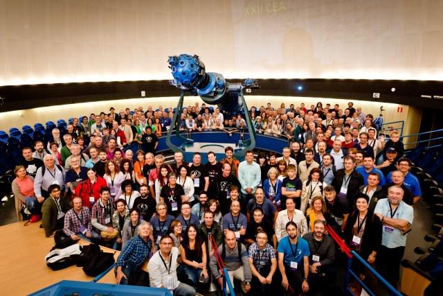 Foto de grupo del XXII CEA de Pamplona
