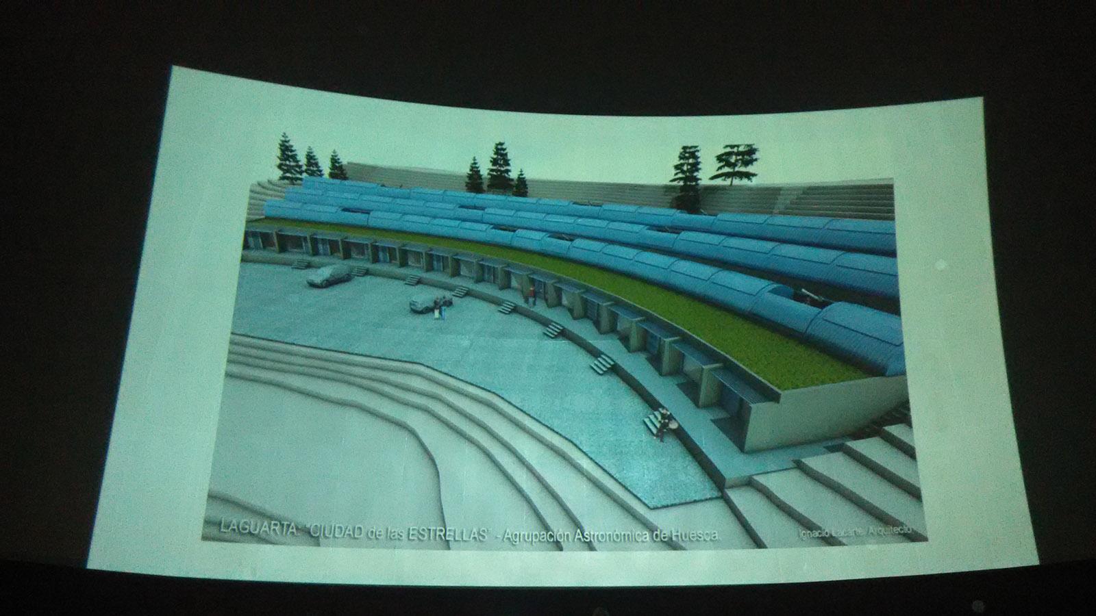 Simulación del complejo de la 'Ciudad de las Estrellas' de Laguarta.