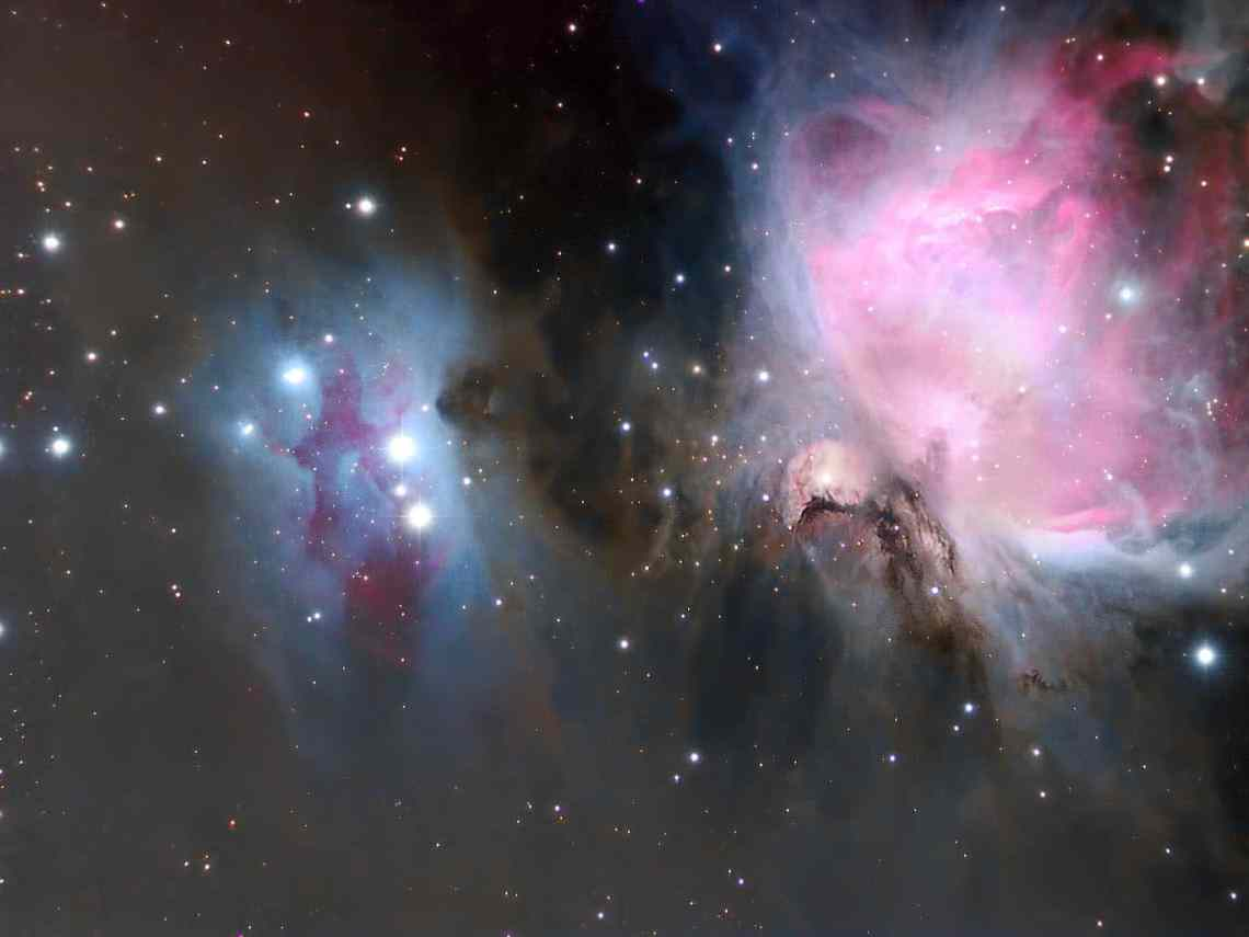 Febrero 2017. Pedro Moreno. M42 y NGC 1977.