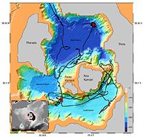 Lexplosion du Santorin et du Krakatoa