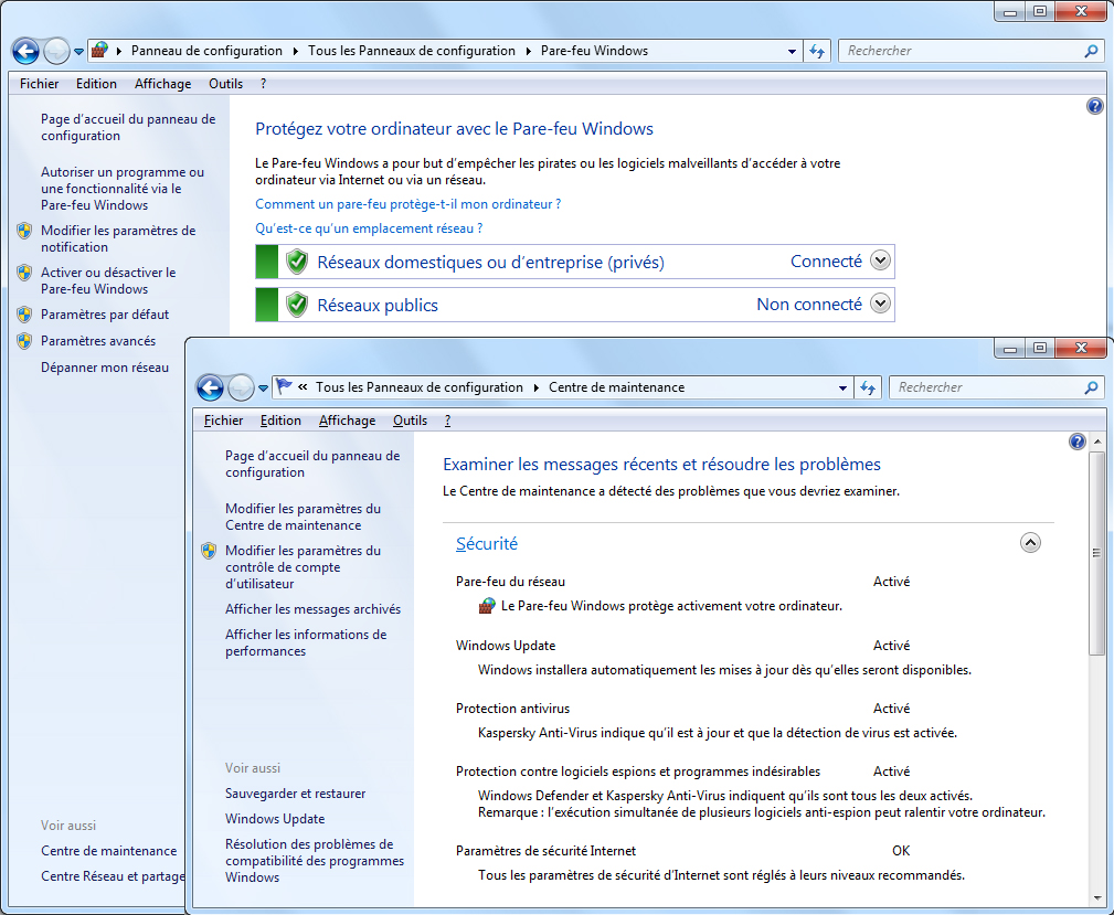 hight resolution of windows7 securite