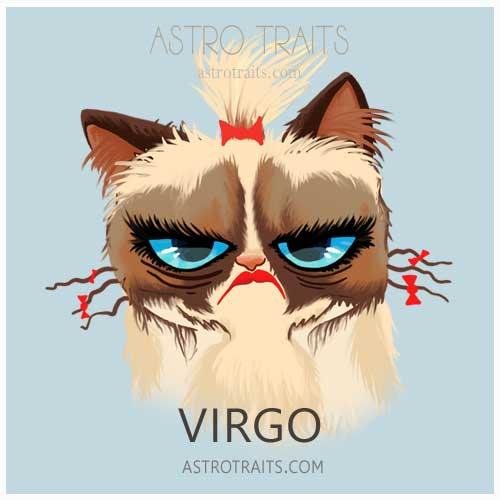 Virgo Grumpy Cat