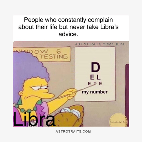 Simpsons Libra Meme