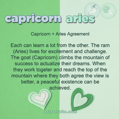 capricorn aries agreement
