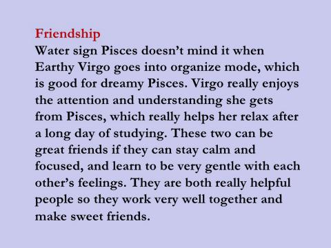 Pisces Virgo Friendship