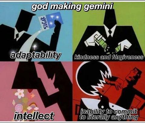 God making Gemini
