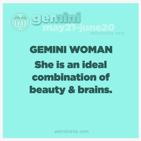 gemini woman beauty and brains
