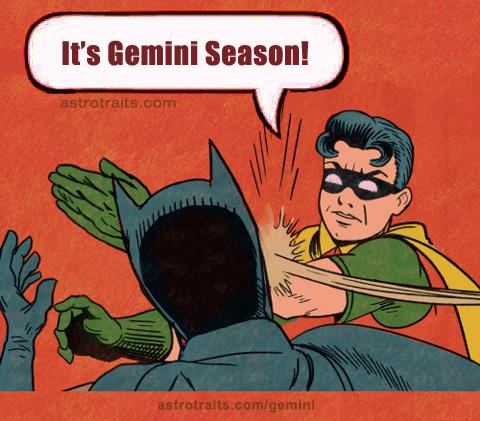 robin slaps batman meme - gemini season memes
