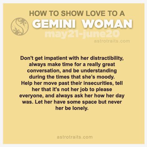 show love to gemini woman