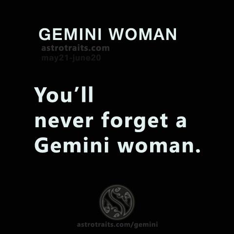 forget gemini woman