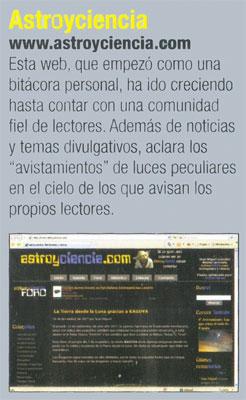 Astroyciencia llega a la revista ESPACIO