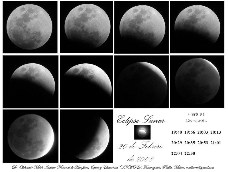 Fotos enviadas por Alexander Malik sobre el eclipse de Luna