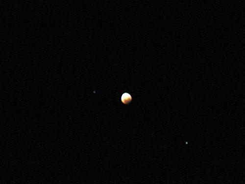 Fotografía de Moisés Valderrama del Eclipse de Luna 2/4
